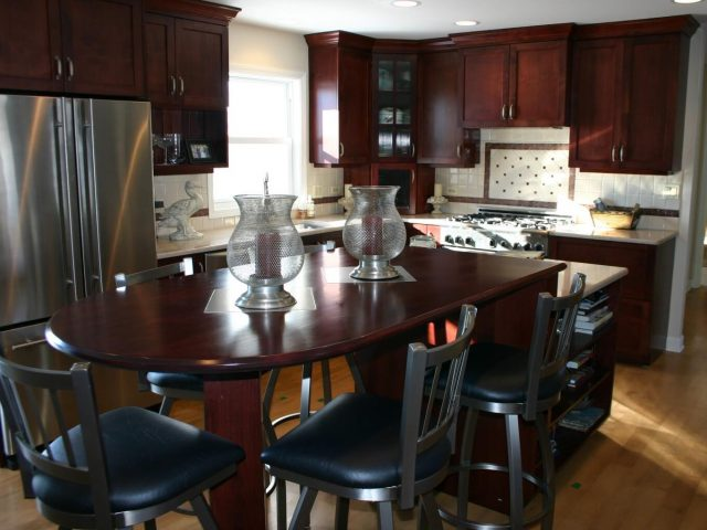 Alder wood kitchen cabinets