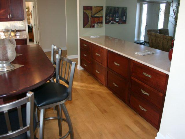 Alder wood kitchen drawers