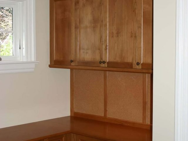 Custom alder wood cabinets for a home office