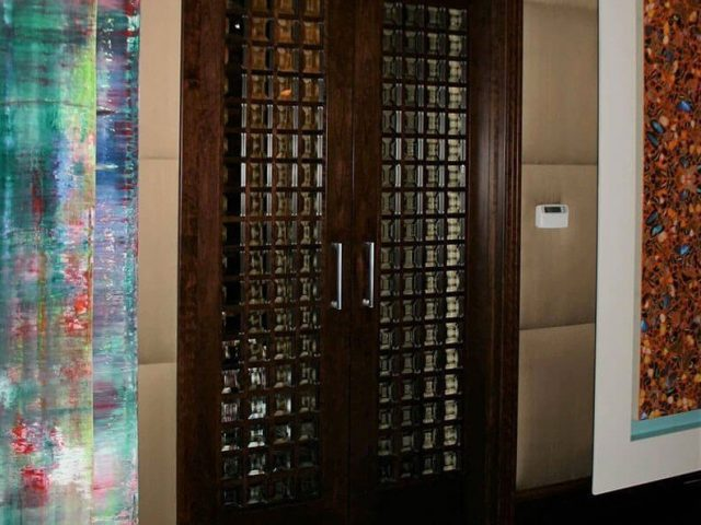 Mullion bedroom doors with beveled glass