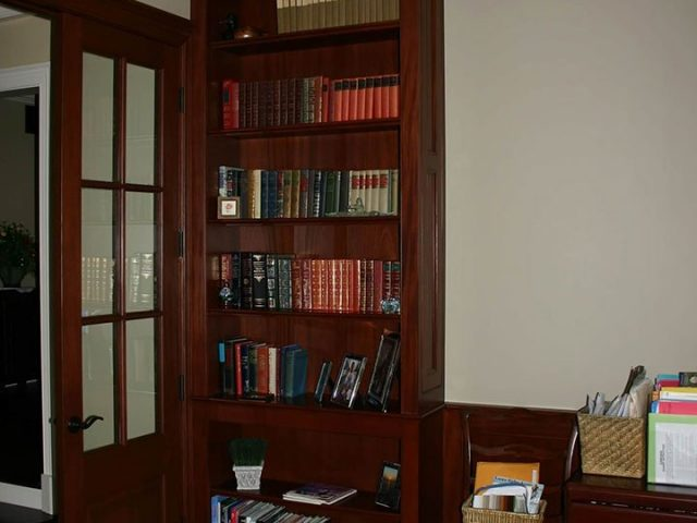Cherry wood office bookcase