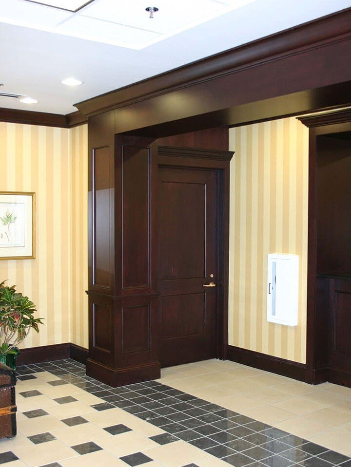 Commercial millwork made with maple wood