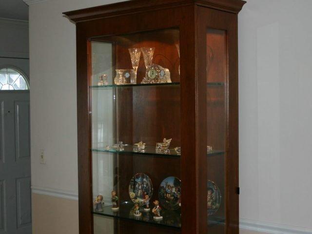 Custom wood curio cabinet