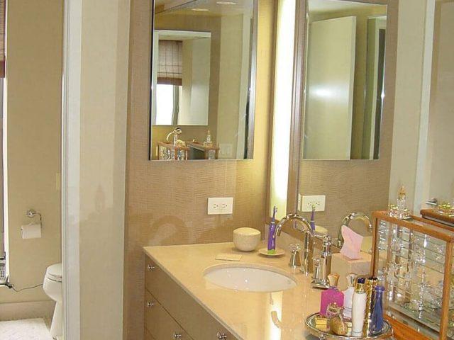 Custom bathroom vanity and surround