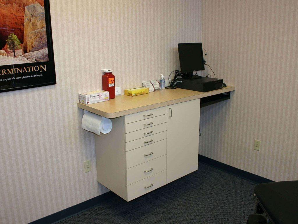 Custom exam room cabinet