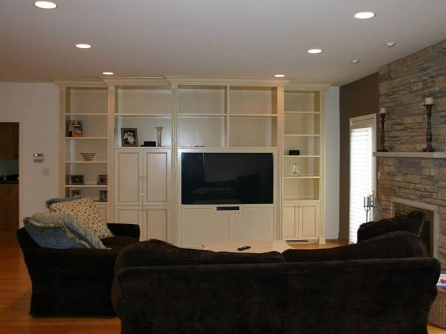 Glazed and painted TV cabinets and bookcases