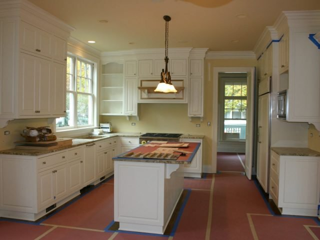 White inset face frame kitchen cabinets