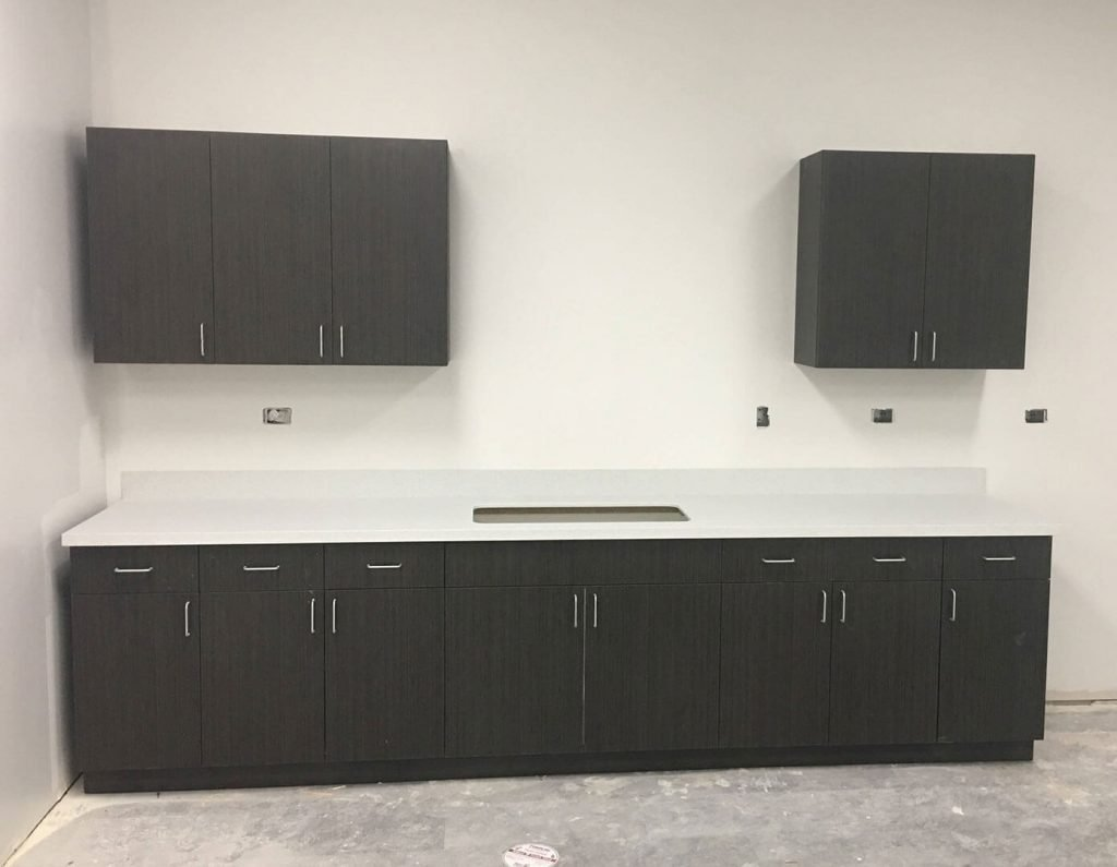 ADA compliant laminate cabinetry and countertops