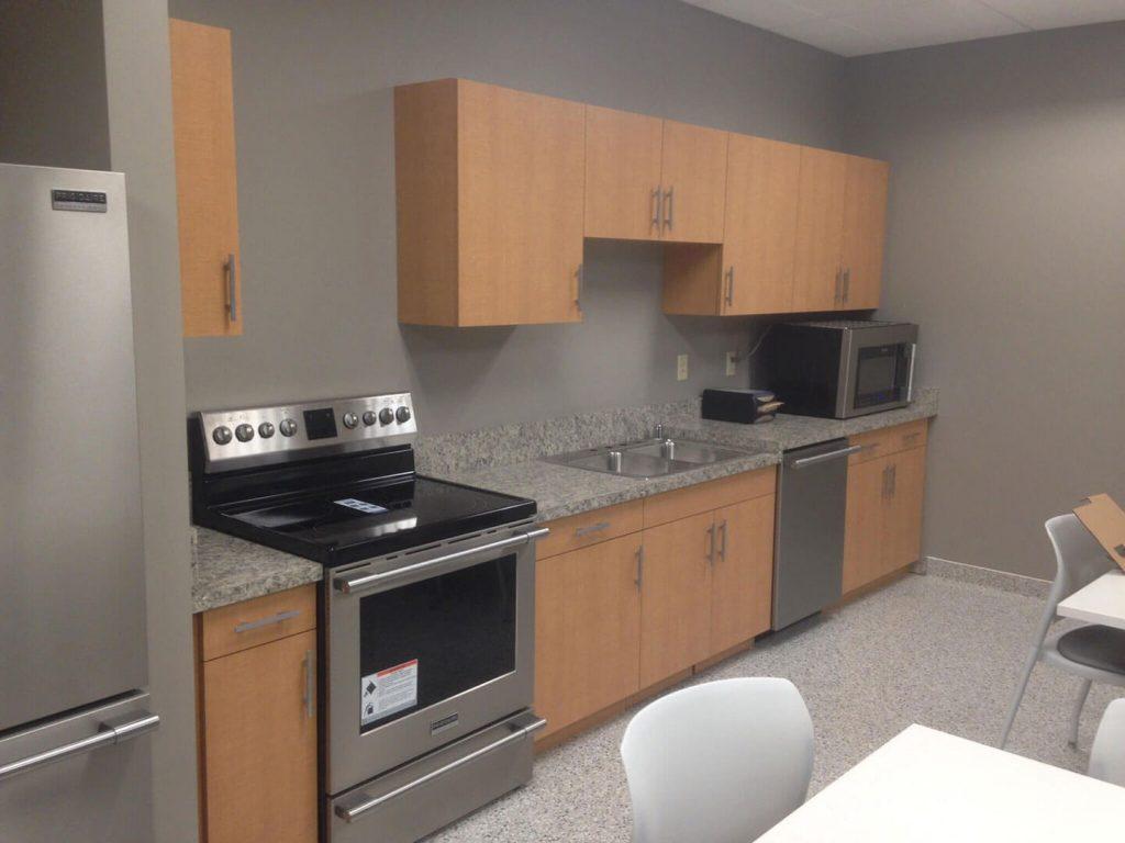 Custom laminate breakroom cabinets