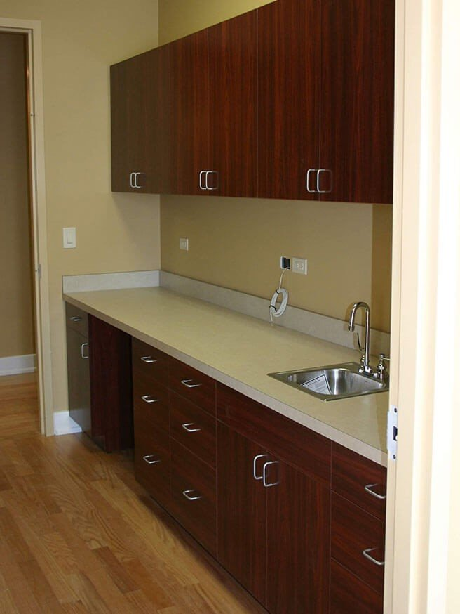 Custom countertop and laminate cabinets