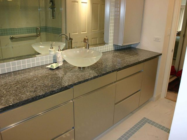 Laminate vanity cabinets