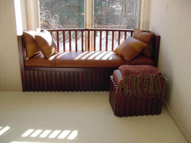 Mahogany bench seat