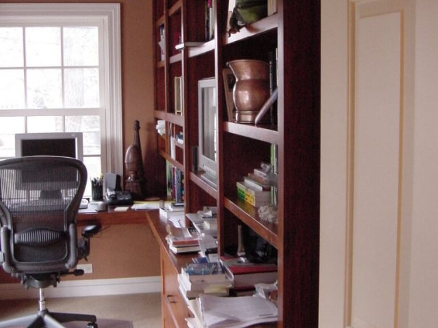 Maple wood bookcase for home office
