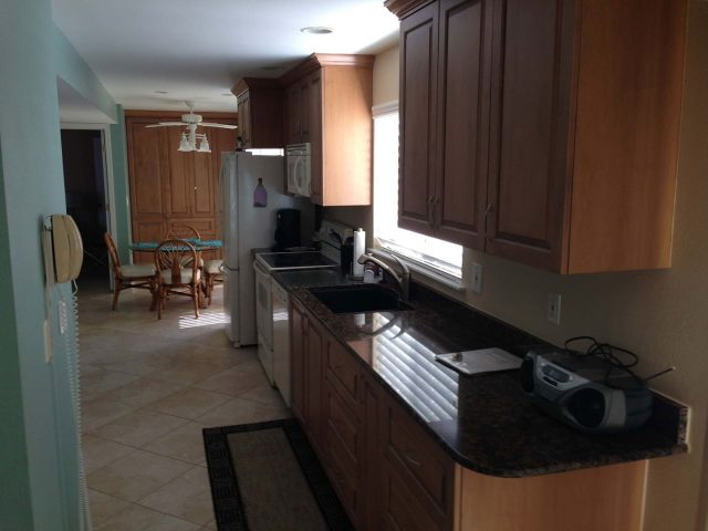 Maple kitchen cabinets with raised panel fronts
