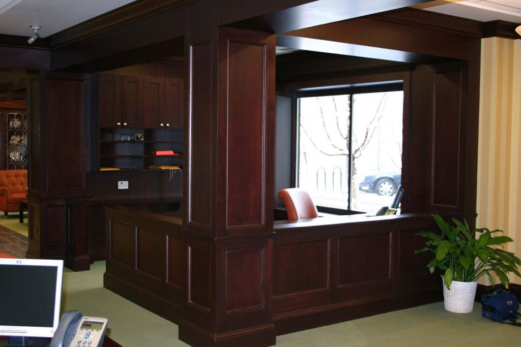 Maple stained millwork