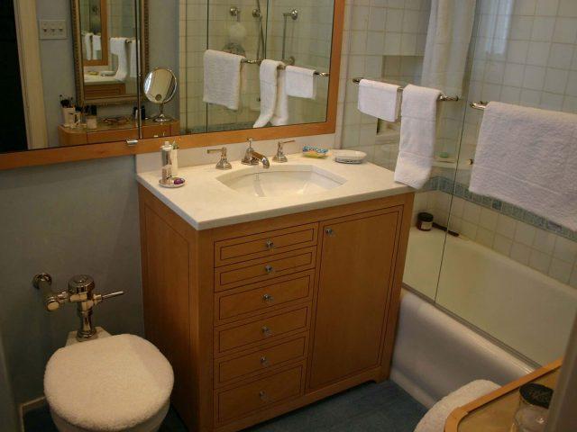 Maple wood vanity