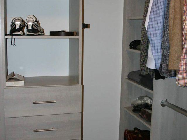 Custom melamine closet
