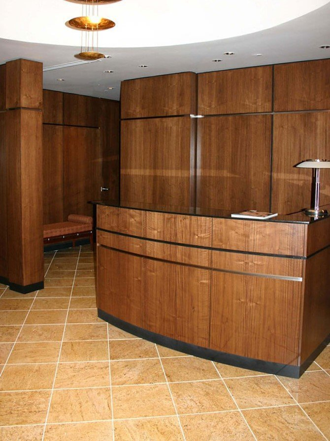 Custom office reception desk