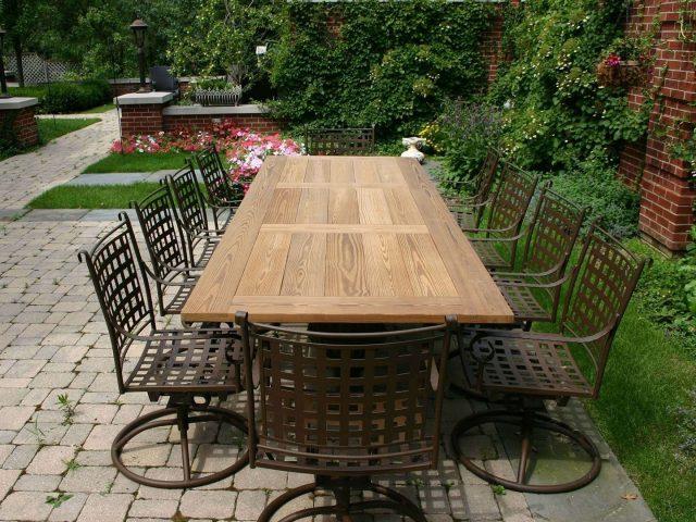 Custom outdoor picnic table