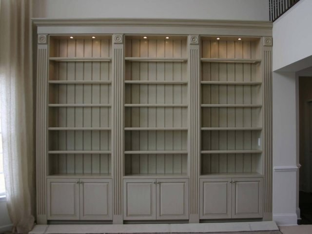 Painted and glazed bookcases