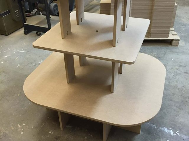 Wooden product display stand
