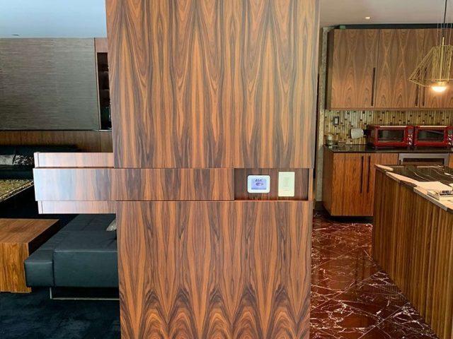 Custom rosewood end panel