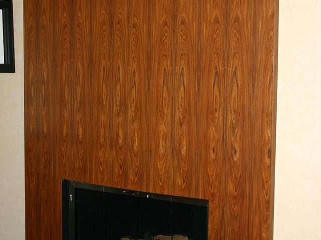 Rosewood panel fireplace surround