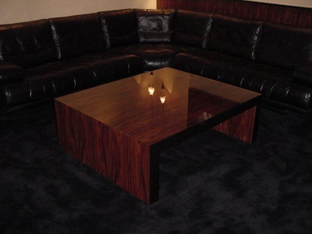Rosewood gloss coffee table