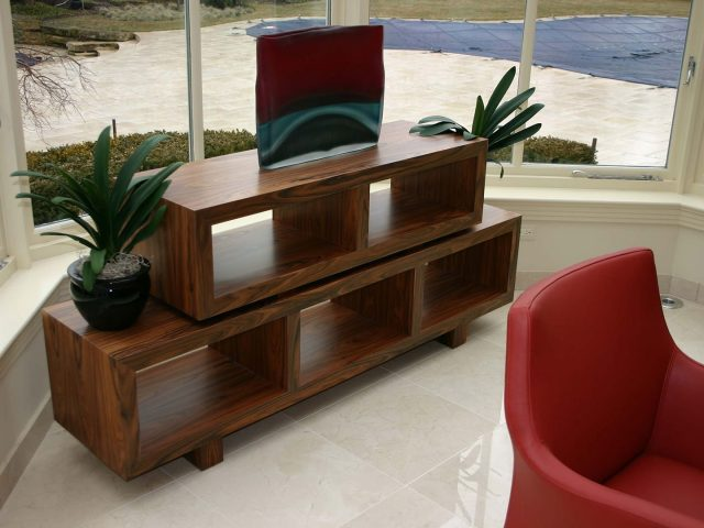Free standing rosewood cabinetry