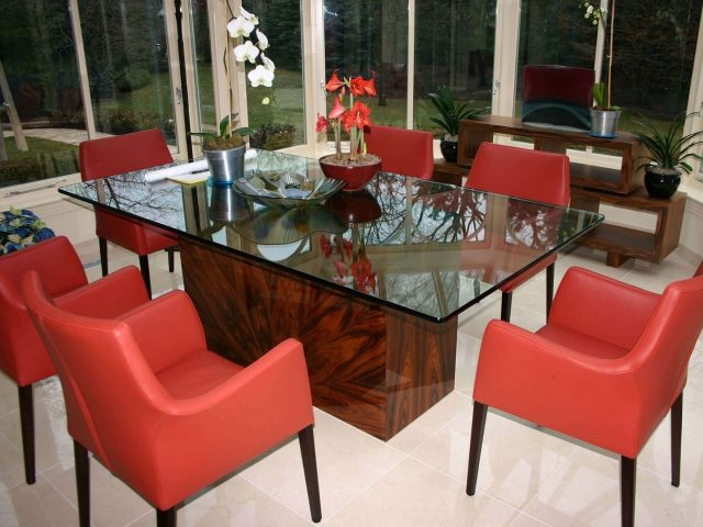 Rosewood dining table base