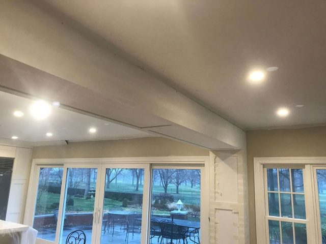 Shaker style faux beams