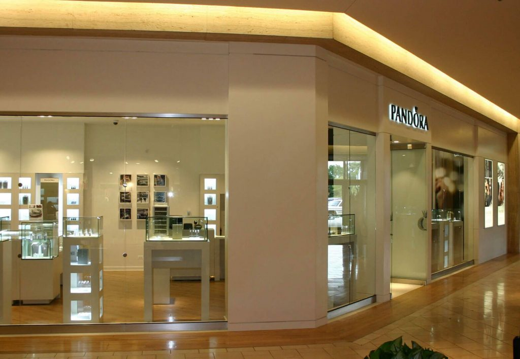 Solid surface store front for Pandora
