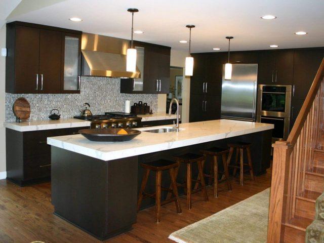Wenge veneer kitchen cabinets