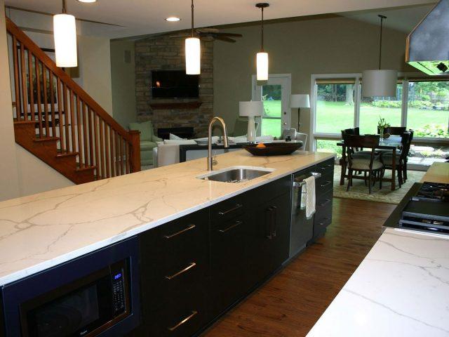 Wenge veneer kitchen island