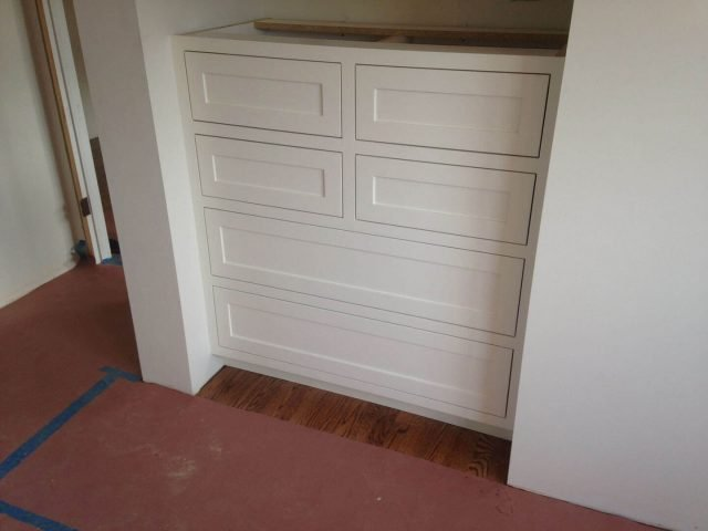 Custom white bedroom dresser