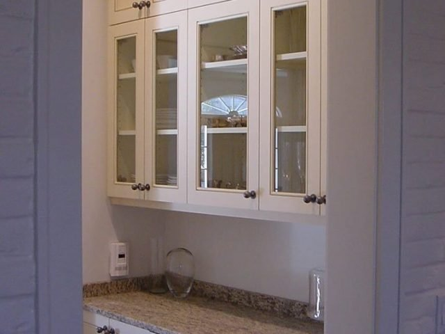 White butler's pantry cabinets