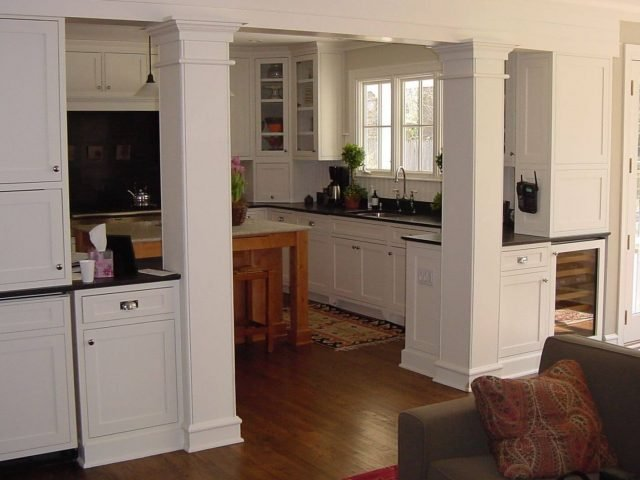 White inset face frame cabinets