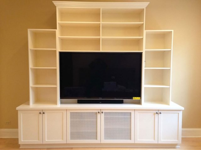 White TV cabinets and bookcases