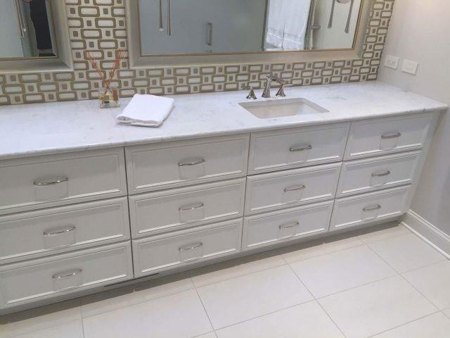 Custom white vanity