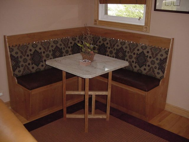 Custom wooden bench seat